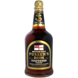 Black Label Navy Gunpowder Proof Rum Pusser's 70 cl
