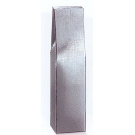 Scatola 1 Bottiglia ARGENTO 9X9H37 cm