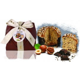 Panettone Cioccolato e Nocciole De Mori 800 gr