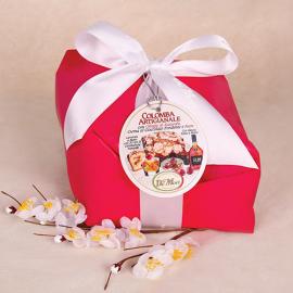 Colomba artigianale con crema al cioccolata,ciliegie e rum De Mori 500 gr