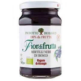 Confettura bio di Mirtilli neri di bosco Fiordifrutta Rigoni di Asiago 250 gr