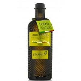Olio extravergine d'oliva oro verde 100% italiano Carapelli 1l