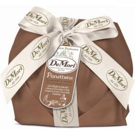 Panettone Ciliegie al naturale e Crema al Cioccolato e Rum De Mori 500 gr