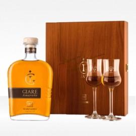 Cofanetto Grappa Amarone Le Giare70 cl + 2 calici - Marzadro
