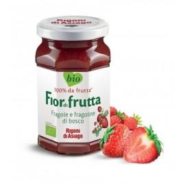 Confettura Bio fragole e fragoline di bosco Fiordifrutta 250 gr - Rigoni di Asiago