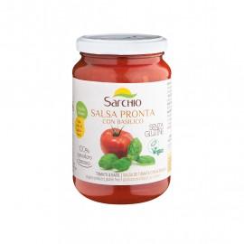 Salsa pronta con basilico bio 340 gr - Sarchio